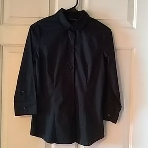 Black New York & Company stretch dress shirt
